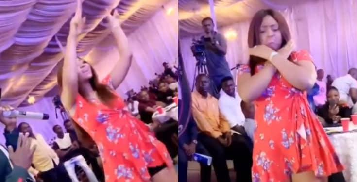 Photo of Regina Daniels Flaunts Baby Bump While Dancing (Video)