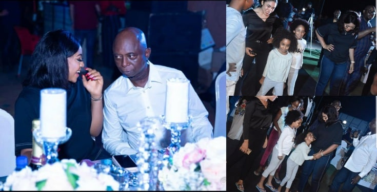 Regina Daniels pictured with Ned Nwoko's Children (Photos)