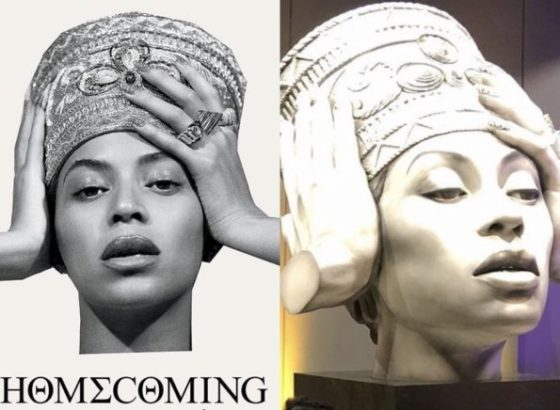 Beyonce statue unveiled in Germany (Photos)