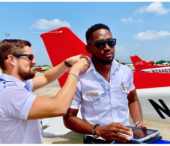 Photo of BBNaija 2018 winner, Miracle Ikechukwu is certified as an Instrument Rated pilot