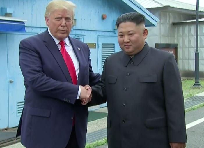 Trump makes historic visit to North Korea's Demilitarized Zone