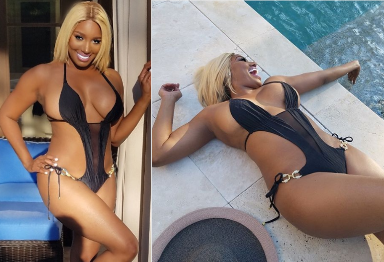 Photo of Reality star NeNe Leakes shows off her curves in tiny black bathing suit (Photos)