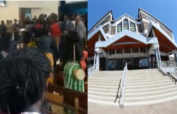 Photo of Kenyan pastor beaten in church by members (video)