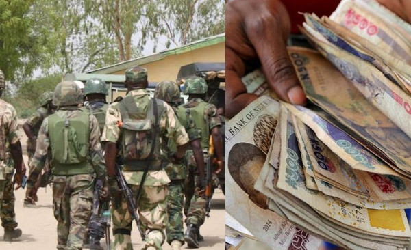 Photo of Nigerian soldiers escorting VIP abscond with billions