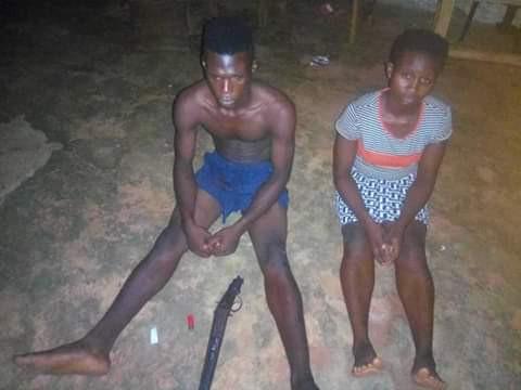 female armed robber terrorising Abatete community