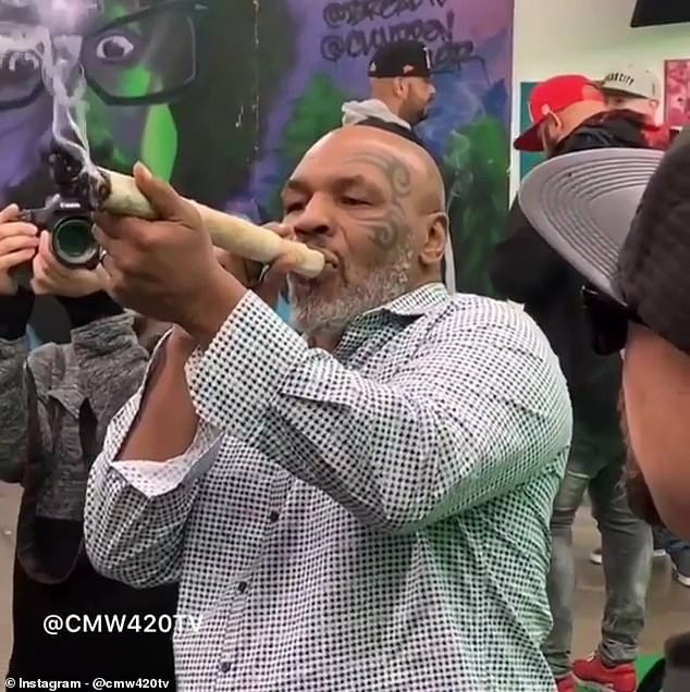 Photo of Boxing legend, Mike Tyson reveals he spend $40,000 on weed every month