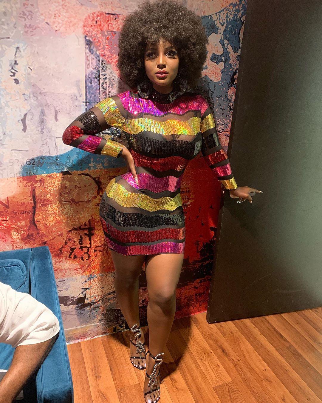 Amara La Negra displays her curves in see-through dress (Photos)