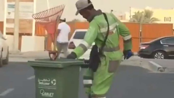 Dancing Nigerian cleaner steals hearts in Abu Dhabi