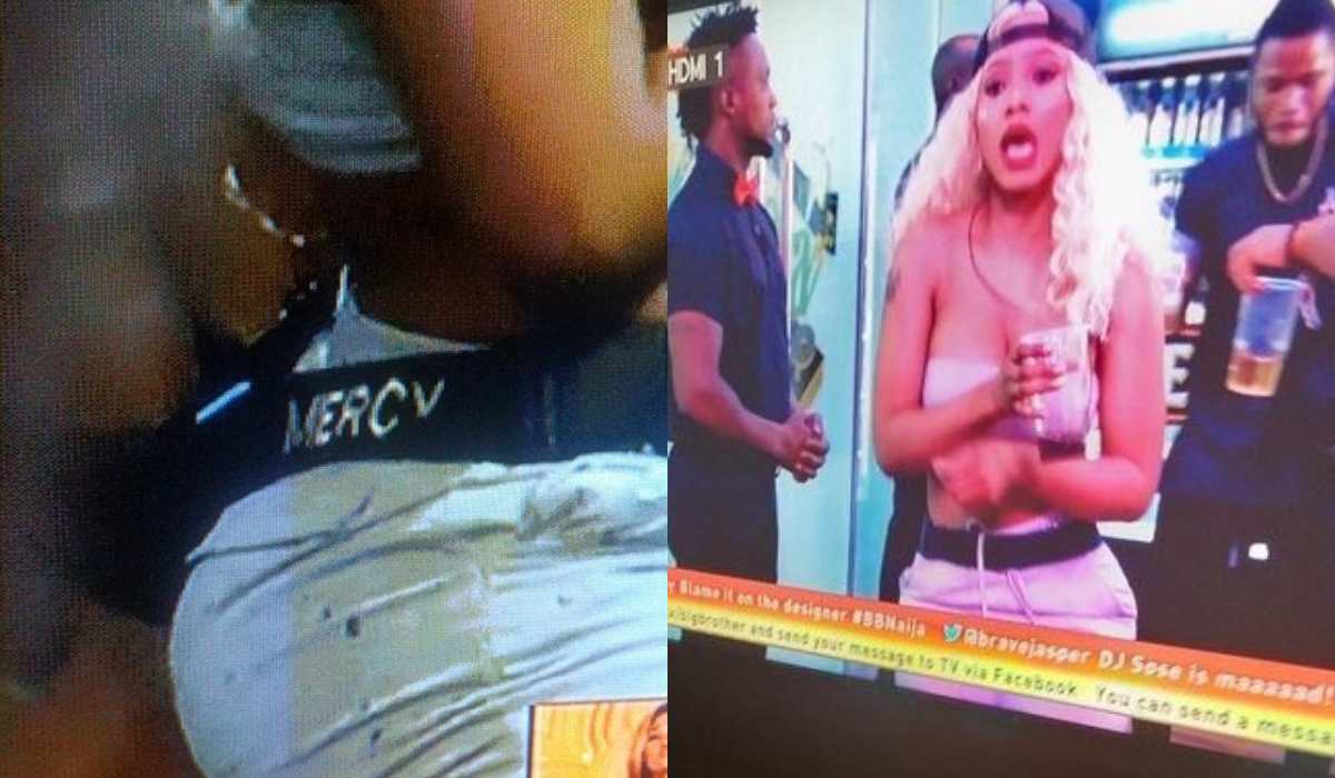 Photo of BBNaija 2019: Mercy strips and shows off her boobs during the night party (Video)