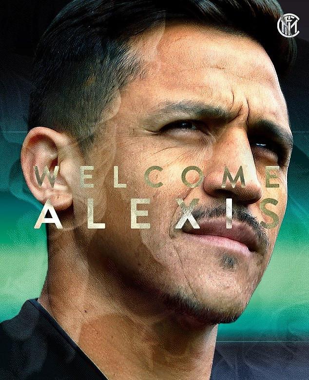 Alexis Sanchez completes loan move to Inter Milan
