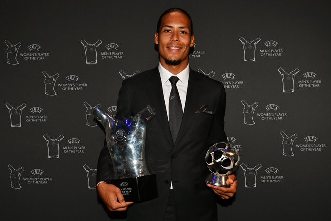Photo of Virgil van Dijk beats Lionel Messi and Cristiano Ronaldo to win UEFA Player of the Year