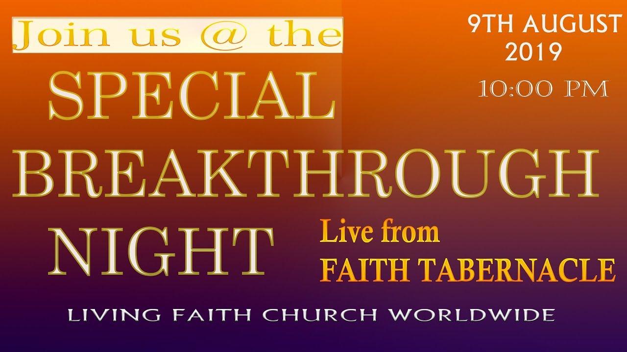 Photo of Winners Chapel Breakthrough Night Service – Watch Live August 2019