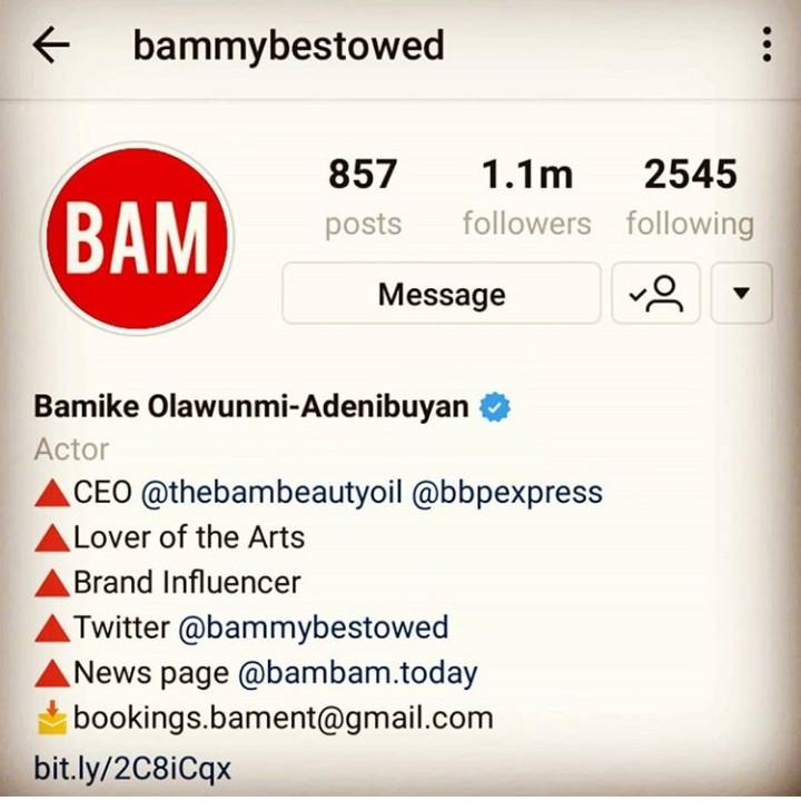 BamBam edits her Instagram profile
