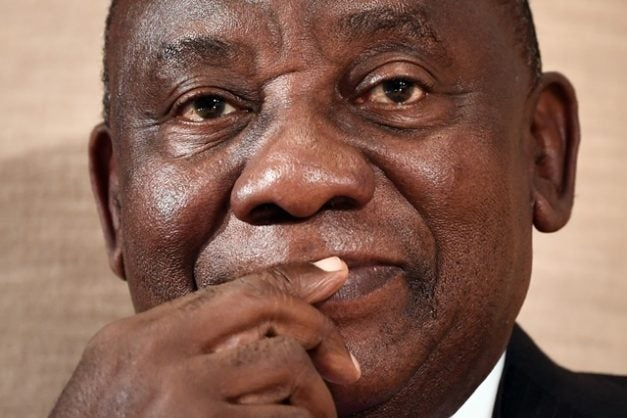 Photo of South African president, Cyril Ramaphosa booed at Mugabe's funeral service (video)