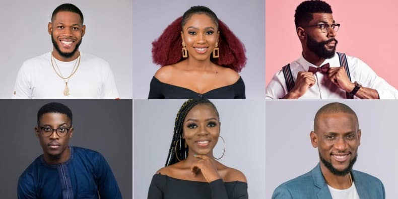 Photo of The BBNaija 2019 Finalists: Frodd, Omashola, Mike, Mercy, Diane and Seyi