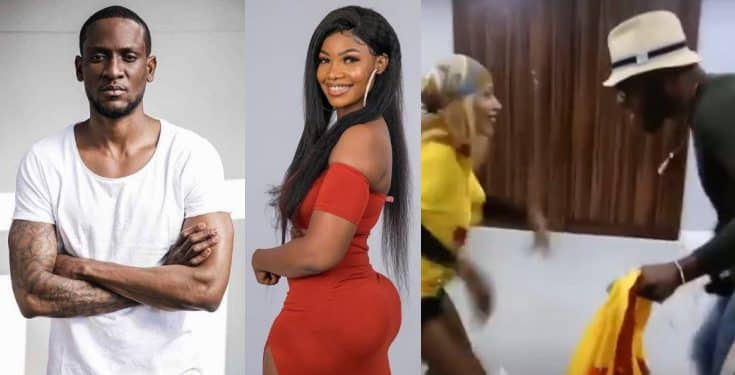 Photo of Frodd and Mercy seen dancing happily during a fight between Tacha and Omoshola (video)