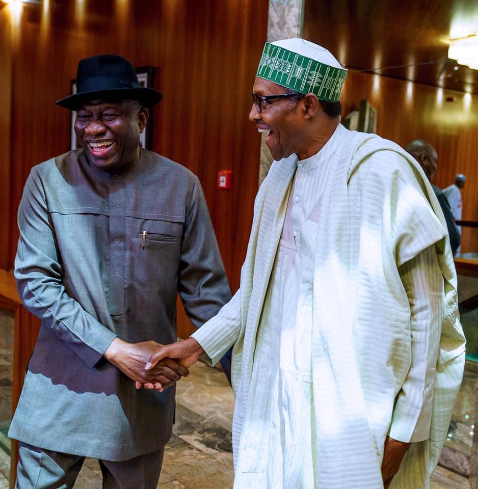 Buhari meets Goodluck Jonathan in Aso Rock (Photos)