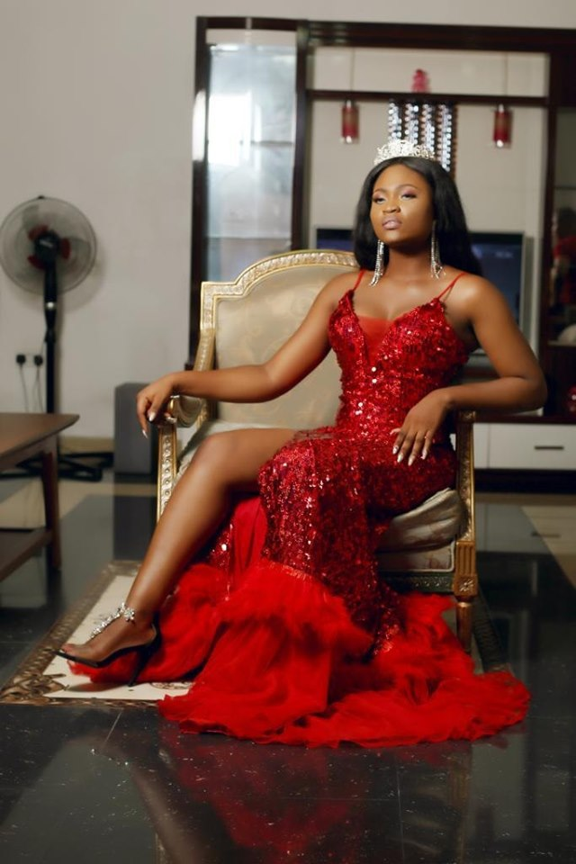 Photo of Queen Freda Fred Miss Niger Delta Diaspora 2019 inducted into Hall of Fame