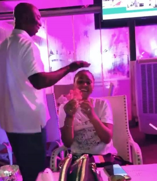 Ned Nwoko plucks flower for wife Regina Daniels