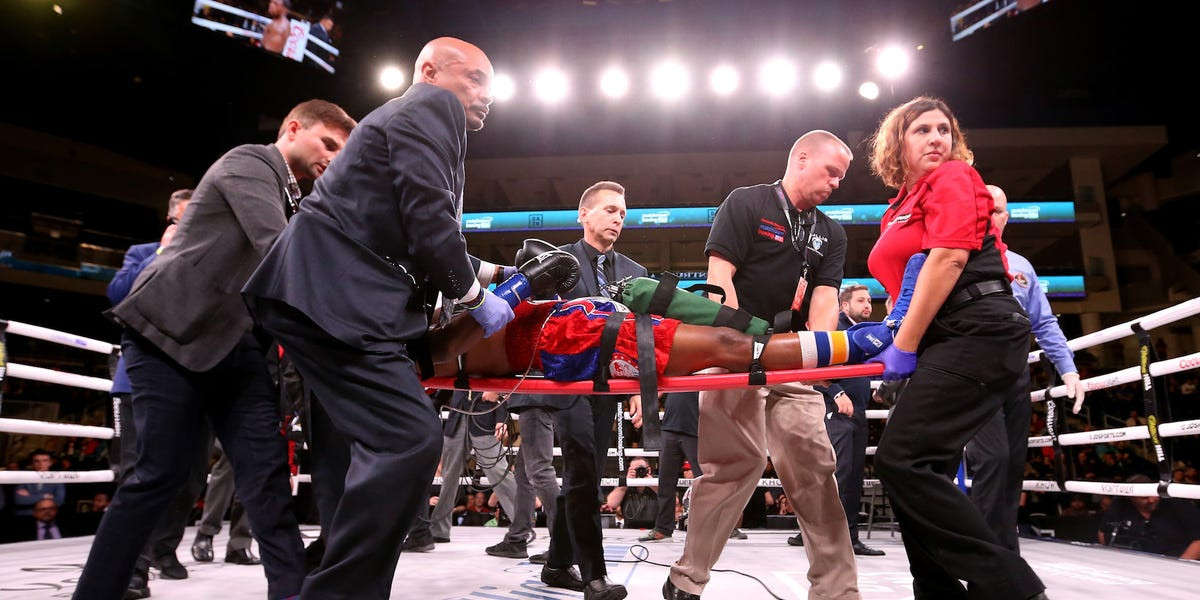 Photo of US boxer, Patrick Day in coma after brutal knockout