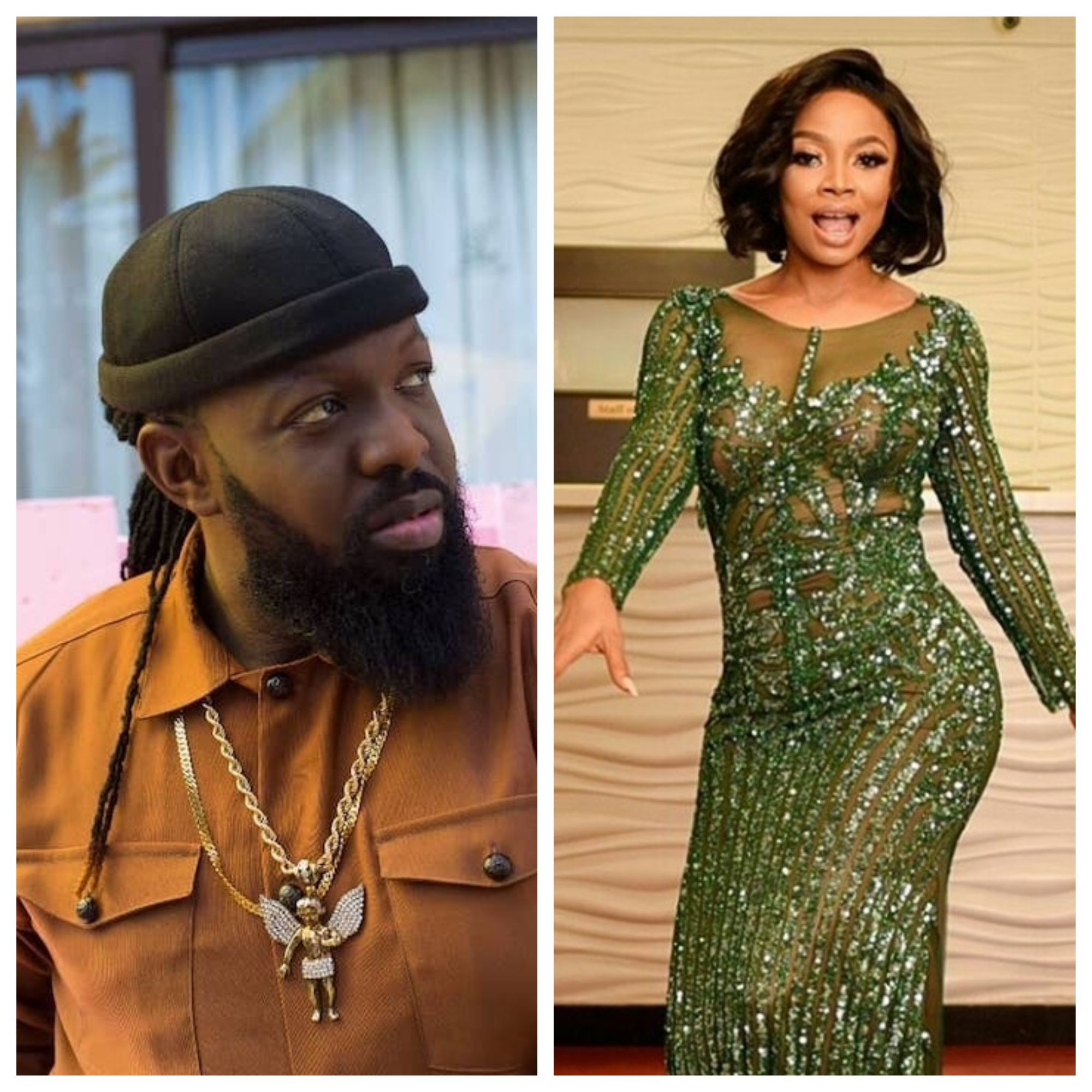 Photo of Toke Makinwa screams 'I am not wearing pant' as Timaya carries her up