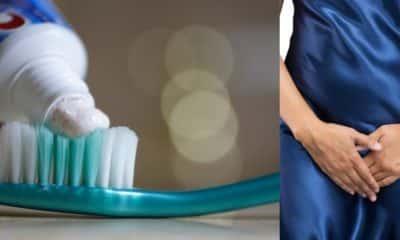 using toothpaste to tighten their vagina