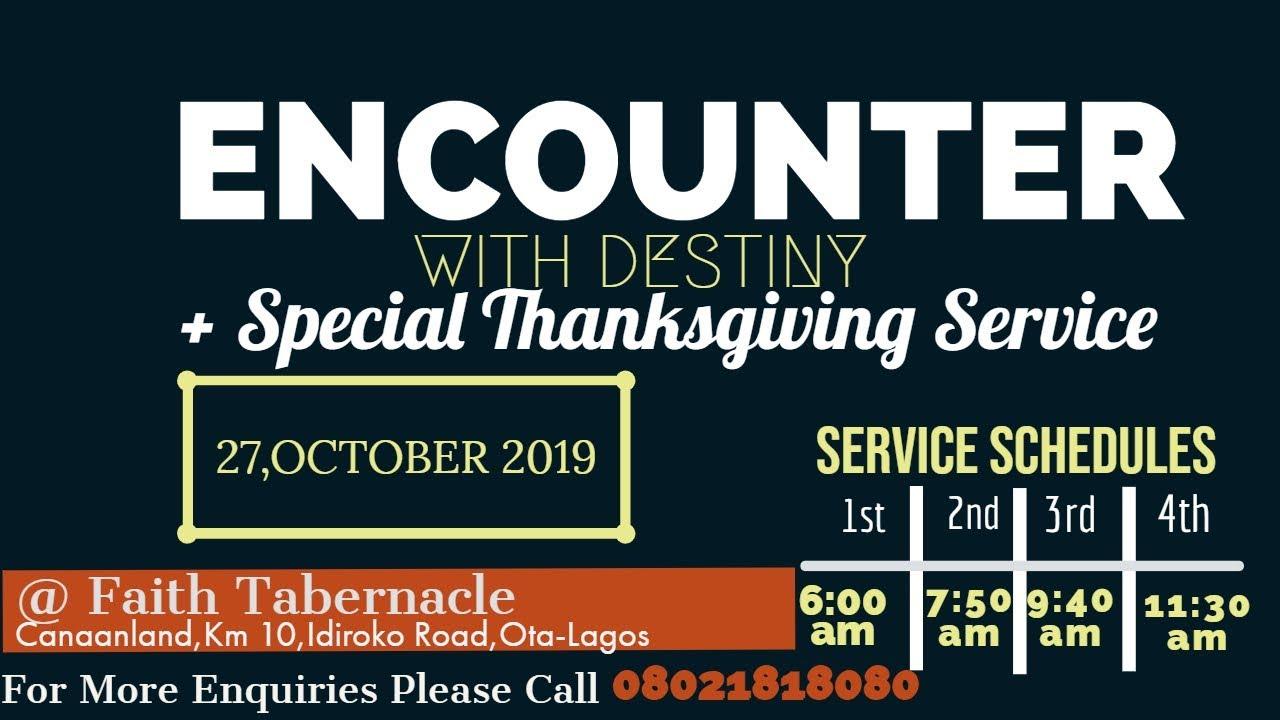 Watch Winners' Chapel 27 October 2019 Live Service
