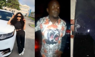 Man who hit Bobrisky's new Range Rover spends night in jail