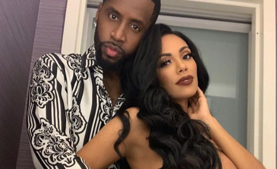 Photo of Erica Mena goes topless, thanks new husband Safaree for loving her