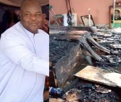 Photo of Catholic priest burnt to death after fire broke out in his room in Nnewi