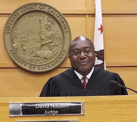 Photo of David Ndudim named judge of the superior court of California