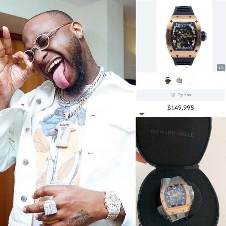 Davido's watch