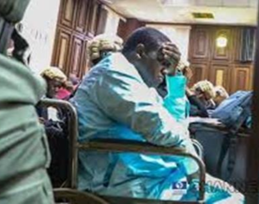 Photo of Maina bleeds from his nostrils during court proceedings