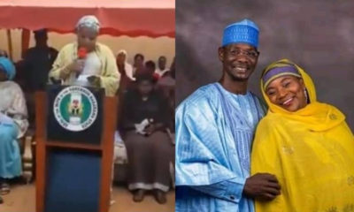 Video of Nasarawa First Lady having issues reading her speech in English