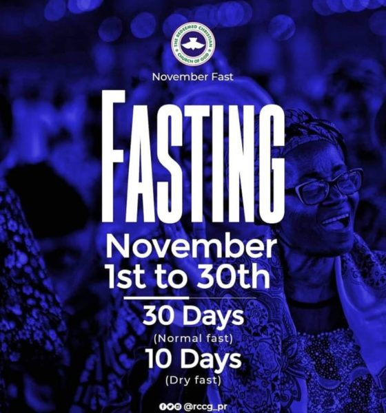 RCCG November 2019 Fasting and Prayer Points Day 30 - Final Day