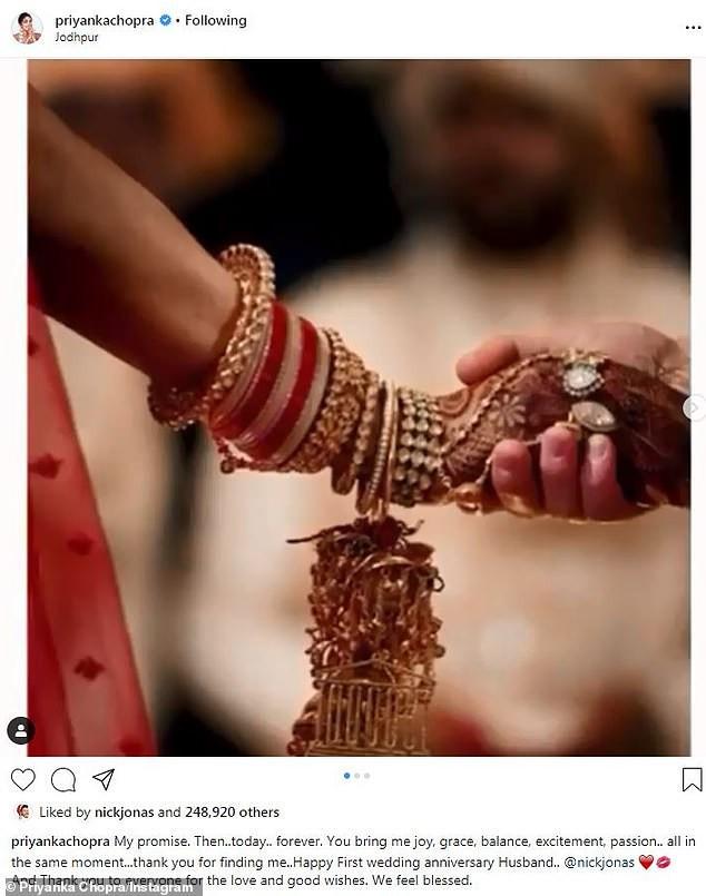 Nick Jonas and Priyanka Chopra celebrate 1st wedding anniversary