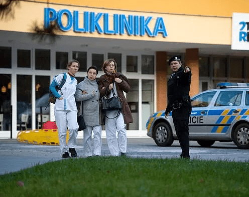 The suspected gunman who killed six people in a Czech hospital