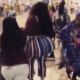 Lady's huge backside causes commotion at Kotoka International Airport in Ghana
