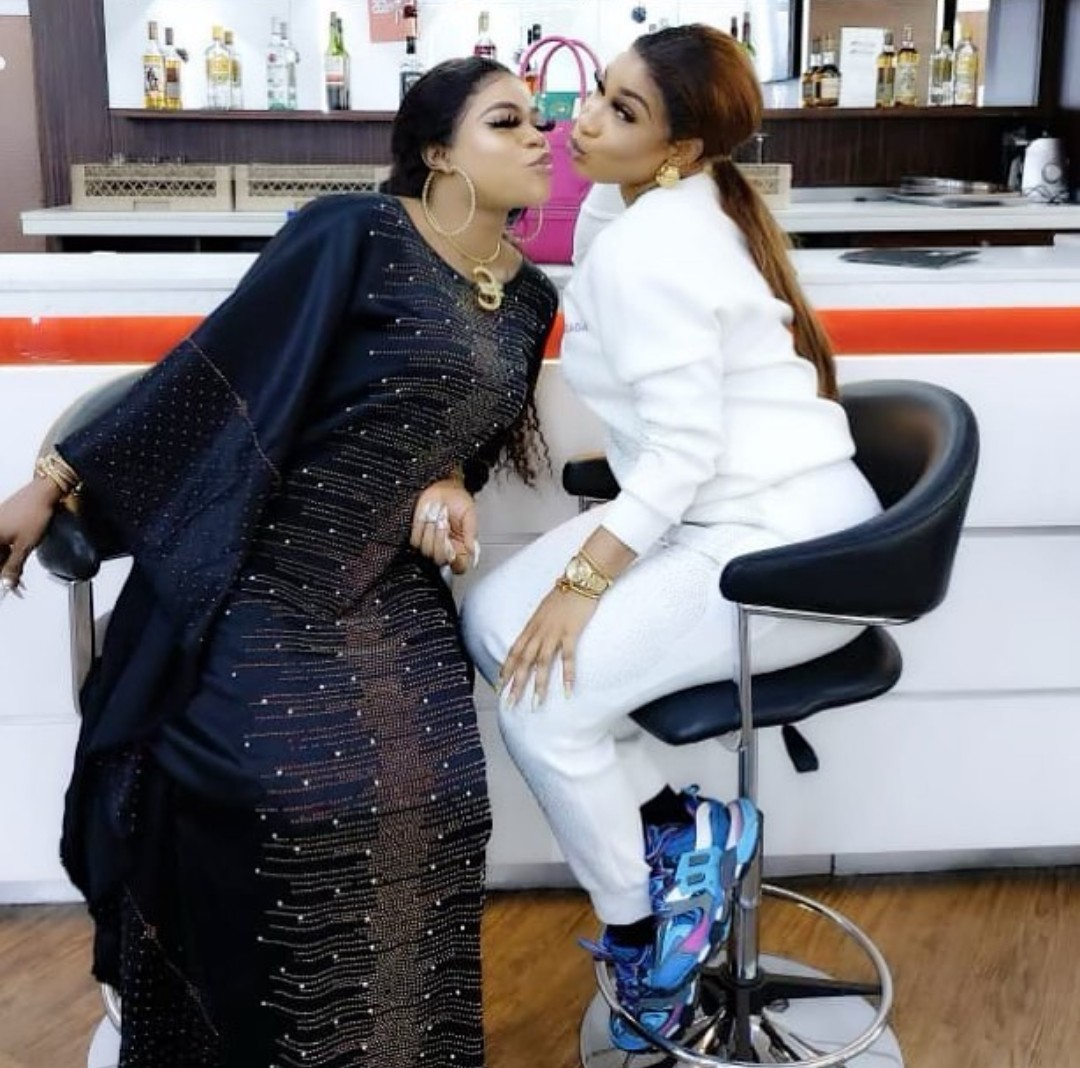 Photo of Tonto Dikeh celebrates 4-years of friendship with Bobrisky
