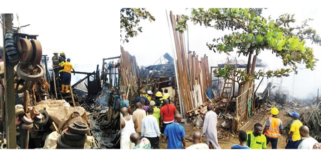 Fire destroys 30 shops goods in Lagos market