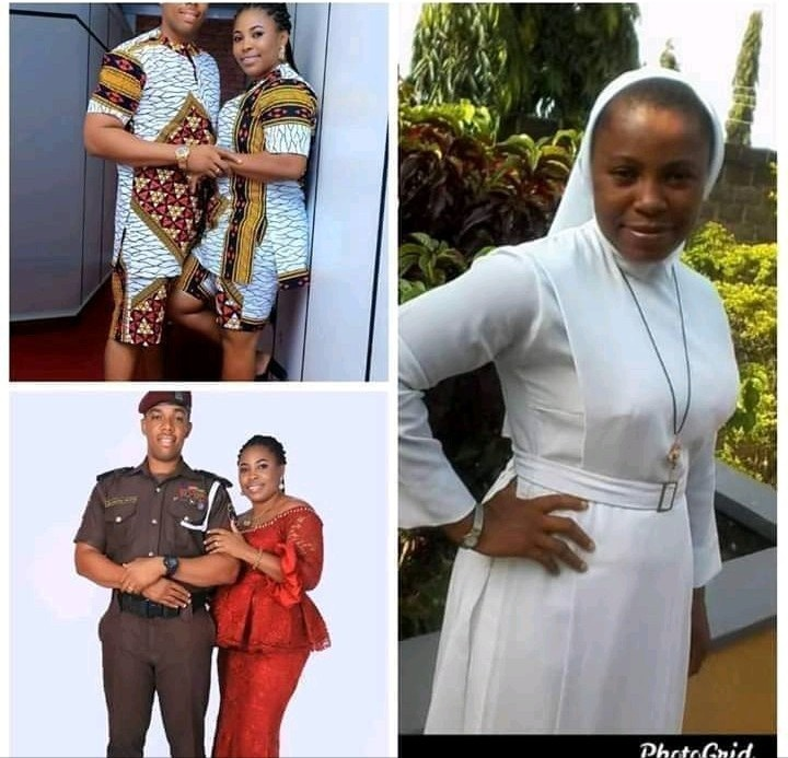 Photo of Catholic Reverend Sister who allegedly quit her religious profession to marry an officer
