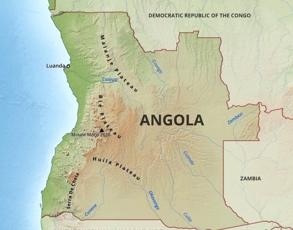 Angola rain fall