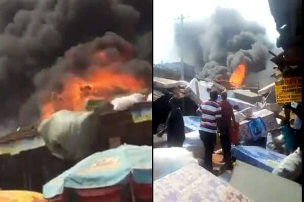 Photo of Fire outbreak reportedly at Ogbete Main market, Enugu (Video)