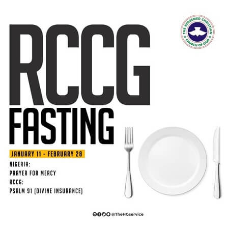 RCCG 2020 Fasting And Prayer Points for 25 January Day 15