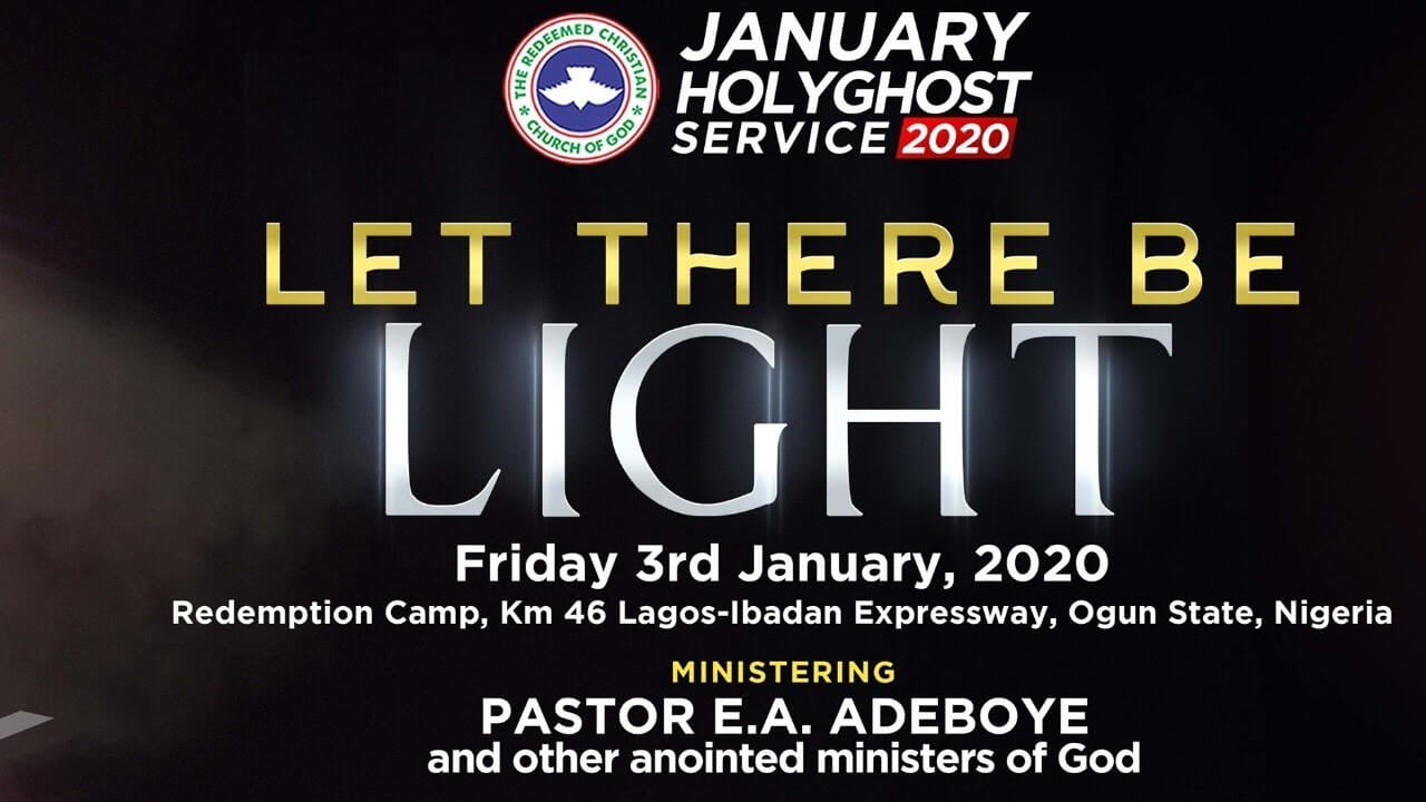 RCCG January 2020 Holy Ghost Service