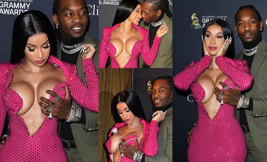 Photo of Pre-Grammy gala: Offset grabs wife Cardi B's breast at Clive Davis' star-studded