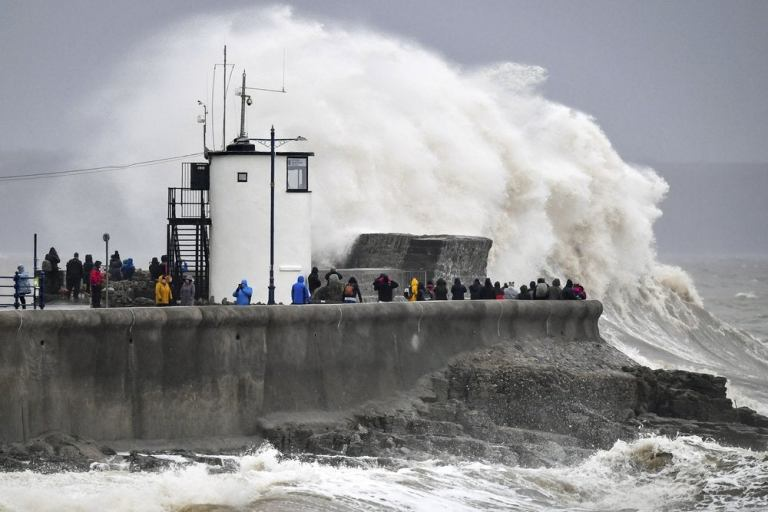 Photo of Britain hit by hurricane-force winds, 'life-threatening' floods