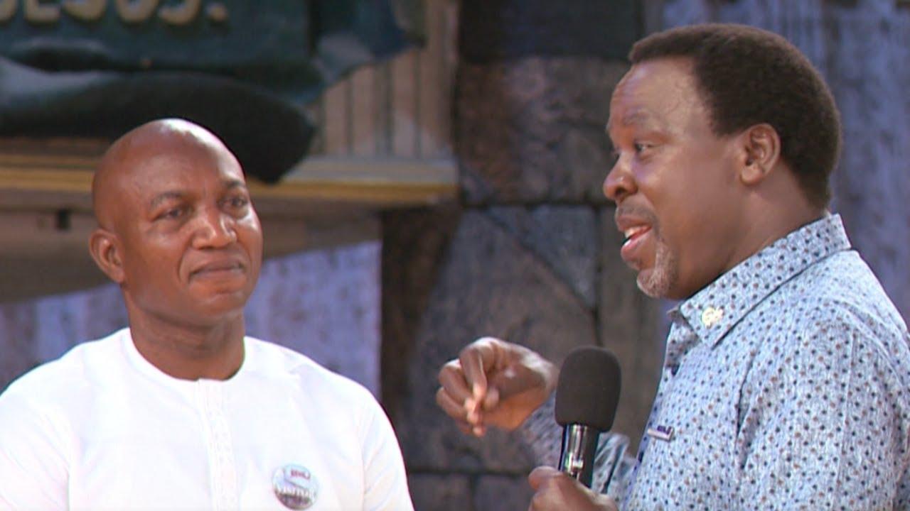 Video of TB Joshua giving David Lyon false hope