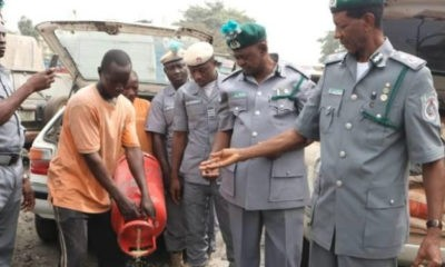 Nigerian Customs seizes 1,393 bags of rice hidden in gas cylinders