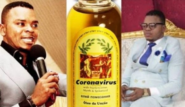 Photo of Pastor sells 'Holy Oil' to protect members against coronavirus